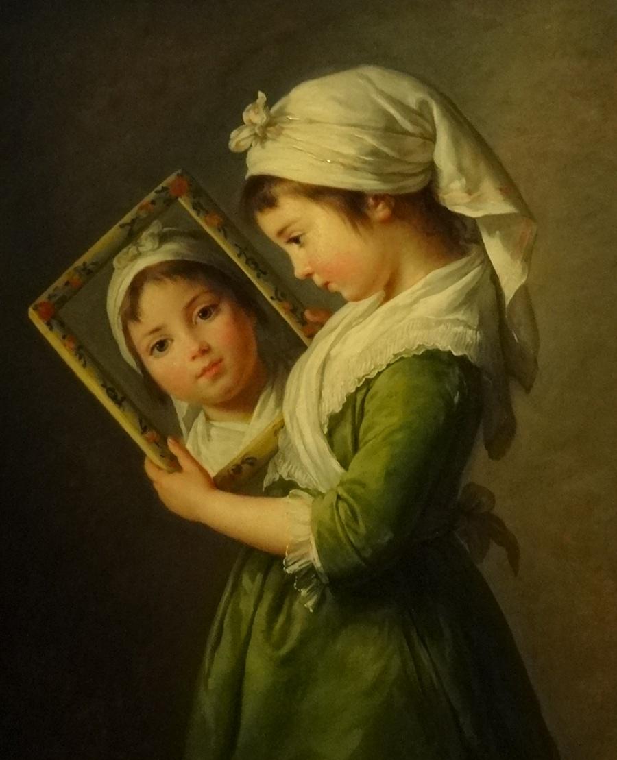 Jeanne Julie Louise Le Brun se regardant dans un miroir 1787